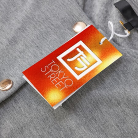 Metallic Hang Tag Printing